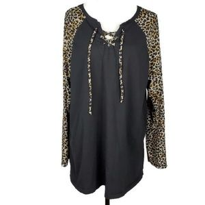 Sunshine & Rodeo Leopard Print Longsleeve Top